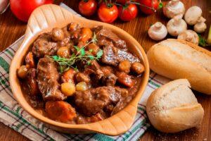 Beef stew mushrooms