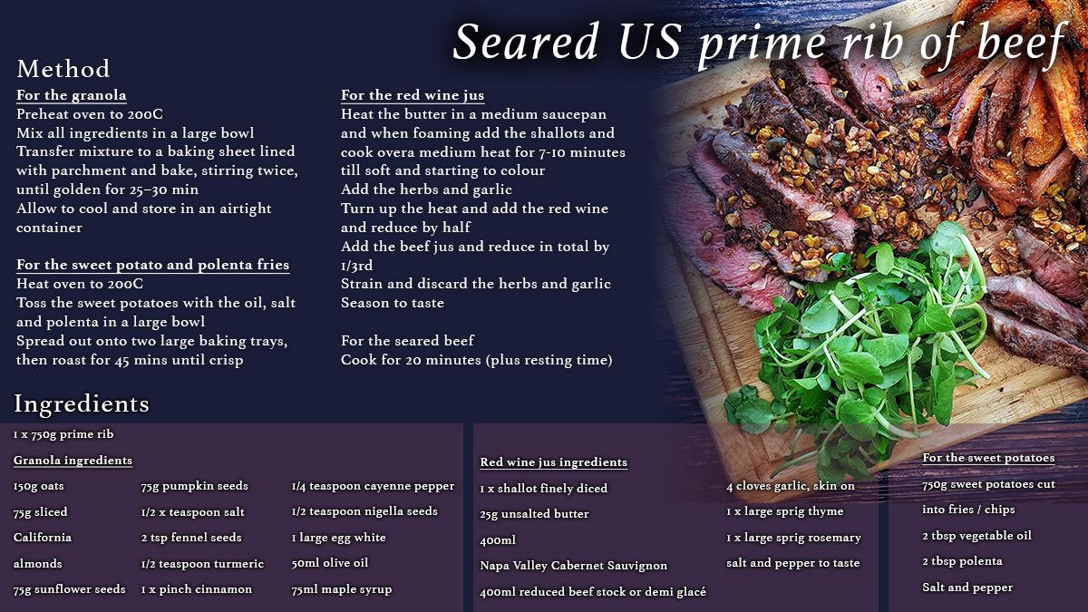 Prime rib beef
